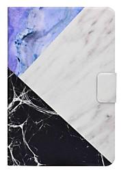 titular de cartão de padrão de mármore com suporte flip caso de couro magnético para Samsung Galaxy Tab a t350 t355c tablet de 8,0