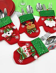 4pcs / set animaux inspirational bonhommes de neige santa flocon mots& citations vacances noël décorations de fête
