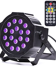cheap -U'King ZQ-B194B-YK 18*1W LEDs Purple Color Auto DMX Sound Activated Par Stage Lighting for Disco Party Club KTV Wedding