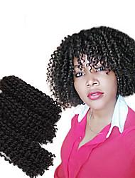 economico -Trecce Crochet pre-ciclo 3 Trecce di capelli Riccio stile Mali 8 pollici Nuovo arrivo Treccine afro Capelli sintetici Nero / Borgogna