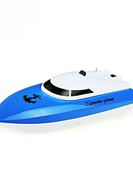 RC Boat WL Toys HY802Blue ABS 4 Channels 20 KM/H RTR