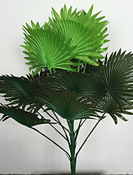 cheap -60cm 1 Pc 15 leaves/pc Home Decoration Artificial Green Plants Fan Shape Grasses