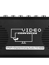 Video Converter Adapter YPbPr Input to HDMI Output 5 RCA Port Support 720P 1080P Audio Converter