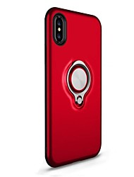 cheap -Case For Apple iPhone X iPhone 8 Shockproof Ring Holder Back Cover Armor Hard PC for iPhone X iPhone 8 Plus iPhone 8 iPhone 7 Plus iPhone