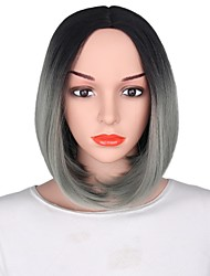 cheap -Synthetic Wig Ombre Hair Gray Women's Capless Party Wig Short Synthetic Hair