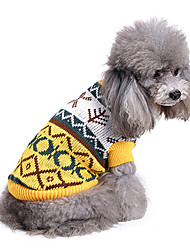 Chien Pull Vêtements pour Chien Décontracté / Quotidien Formes Géométriques Costume Pour les animaux domestiques