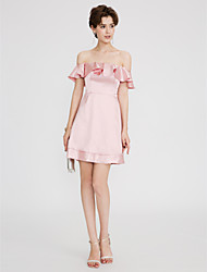 cheap -A-Line Strapless Short / Mini Satin Cocktail Party Dress with Ruffles Pleats by TS Couture®