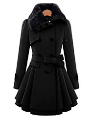 cheap -Women's Coat - Solid, Vintage Style Flash