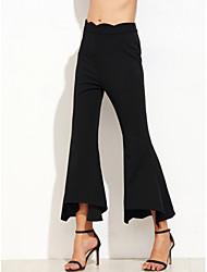 abordables -Mujer Chic de Calle Ajustado a la Bota Chinos Pantalones - Un Color