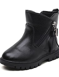 Girls' Shoes Leatherette Fall Winter Comfort Snow Boots Fashion Boots Boots Zipper Tassel For Casual Outdoor Red Black