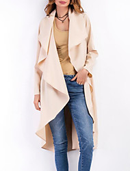 cheap -Women's Street chic Coat-Solid Colored V Neck