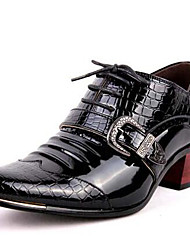 economico -Da uomo Scarpe Vernice Autunno Inverno Scarpe formali Oxfords Per Casual Serata e festa Nero Blu