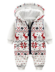 Baby Fashion Geometic One-Pieces,Cotton Fall Winter