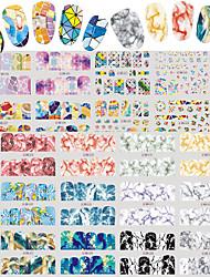 Недорогие -2 Стикер искусства ногтя С рисунком Аксессуары Уход Ар деко / Ретро Наклейка для переноса воды 3-D Мультфильмы Компоненты для
