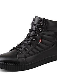 cheap -Men's Shoes Real Leather Cowhide Nappa Leather Fall Winter Driving Shoes Comfort Fashion Boots Sneakers Lace-up For Casual Office & Career