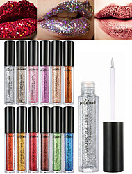 cheap -Makeup Tools Liquid Lip Gloss Dry / Wet / Shimmer Shimmer glitter gloss / Coloured gloss Sequins / Ammonia Free / Formaldehyde Free Makeup Cosmetic Daily Grooming Supplies
