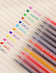 economico -12 pc / set penna a 12 colori del gel del termometro