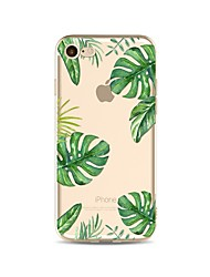 abordables -Funda Para Apple iPhone X iPhone 8 Transparente Diseños Funda Trasera Árbol Suave TPU para iPhone X iPhone 8 Plus iPhone 8 iPhone 7 Plus