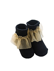 cheap -Girls' Solid Winter Spring/Fall Hosiery,Cotton Stretchy White Black