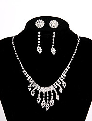 cheap -Women's Elegant Chain Necklace Rhinestone Alloy Chain Necklace , Wedding Party Engagement