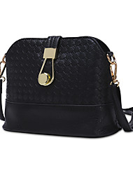 cheap -Women's Bags PU Crossbody Bag Zipper White / Black / Silver