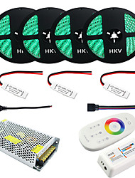 1Set HKV® 20M RGB 5050 LED Strip 20A Transformer IP65 Waterproof Strip Light RF Remote Controller Power Adapter