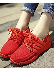 Недорогие -Для женщин Обувь Дышащая сетка Весна Осень Удобная обувь Кеды Назначение Повседневные Черный Красный