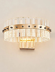 Ambient Light Wall Sconces 10 LED Integrated Crystal Simple Modern/Contemporary Electroplate For