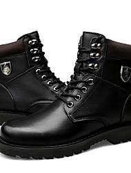 Недорогие -женская обувь натуральная кожа cowhide nappa кожа зимний пух подкладка мода сапоги bootie боевые сапоги сапоги круглые пальцы ноги /