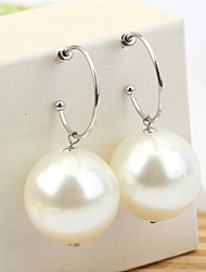 Women's Drop Earrings Imitation Pearl Fashion Elegant Imitation Pearl Copper Round Jewelry For Party Daily