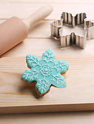 Snowflakes Cookies Cutter Stainless Steel Biscuit Cake Mold Fondant Baking Tools