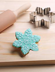 economico -biscotti di fiocchi di neve taglierina in acciaio inox biscotto torta stampo fondente strumenti di cottura