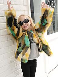 cheap -Faux Fur Wedding Party / Evening Kids' Wraps Coats / Jackets