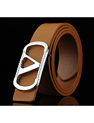 cheap -Men's Alloy Waist Belt,Blue Brown White Black Camel Irregular Style Solid Fashion
