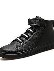 preiswerte -Herrn Schuhe Kunstleder Herbst / Winter Modische Stiefel Sneakers Mittelhohe Stiefel Schwarz / Schwarz / weiss