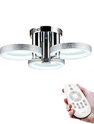 billige -Moderne / Nutidig LED Takmonteret Baggrundsbelysning Til Stue Soveværelse Læseværelse/Kontor Hvid Dimbar med fjernbetjening 90-240V Pære