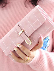 cheap -Women Bags PU Wallet Buttons for Outdoor All Seasons Blue Blushing Pink Fuchsia