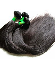 Unprocessed Indian Natural Color Hair Weaves Straight Hair Extensions Three-piece Suit Black