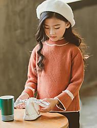 Mädchen Bluse einfarbig Baumwolle Herbst Lange Ärmel