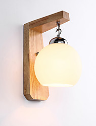 cheap -Rustic/Lodge Antique Simple LED Modern/Contemporary Retro Traditional/Classic Country Wall Lamps & Sconces For Wood/Bamboo Wall Light