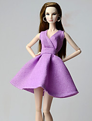 cheap -Dresses Dresses For Barbie Doll Linen/Cotton Cloth Dress For Girl's Doll Toy