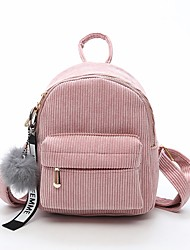 cheap -Women Bags Velvet Backpack Zipper for Casual All Seasons Black Blushing Pink