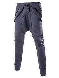 abordables -Hombre Tallas Grandes Pantalones Harén Pantalones de Deporte Pantalones,Un Color