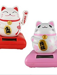 cheap -Solar Maneki Neko Welcoming Fortune Cat Lucky for Home Car Hotel Restaurant Decor Craft
