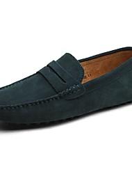 Masculino sapatos Camurça Primavera Outono Sapatos de mergulho Mocassins e Slip-Ons Para Casual Castanho Claro Khaki Azul Real Vinho