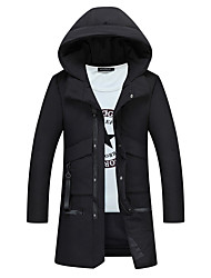 cheap -Men's Regular Padded Coat,Casual Daily Going out Solid-Polyester Polyester Long Sleeves