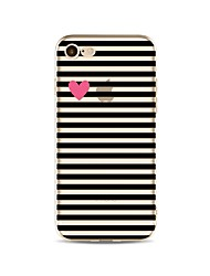 cheap -Case For iPhone X iPhone 8 Pattern Back Cover Lines / Waves Heart Soft TPU for iPhone X iPhone 8 Plus iPhone 8 iPhone 7 Plus iPhone 7