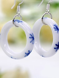 Women's Drop Earrings Hoop Earrings Vintage Elegant China Round Jewelry For Party Daily