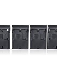 andoer lp-e6 lp-e6n 4 canaux chargeur de batterie de l'appareil photo numérique w / affichage lcd pour canon
