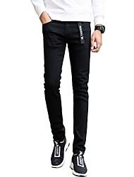 cheap -Men's Chic & Modern Skinny Slim Jeans Pants - Solid Colored